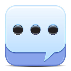 Blue Speech Bubbles Icon