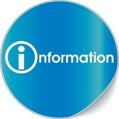 étiquette information