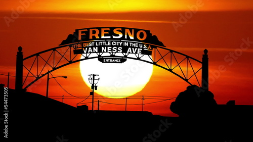 California Fresno sunset
