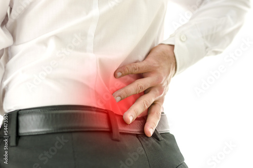 Detail of man suffering from back pain - 54473551