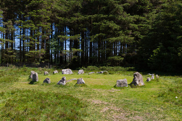 Soussons Stone Circle Dartmoor National Park Devon