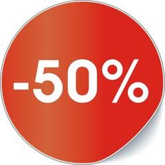 étiquette -50%