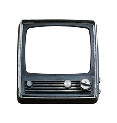 Old television isolated