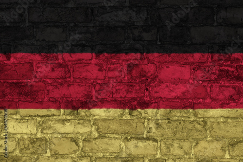 flag of germany graphic on brick background