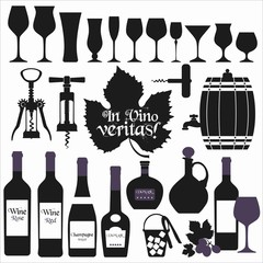 Wine background set. Design element.