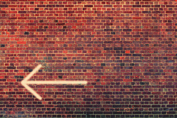 arrow left wall