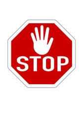 Stopschild mit Hand