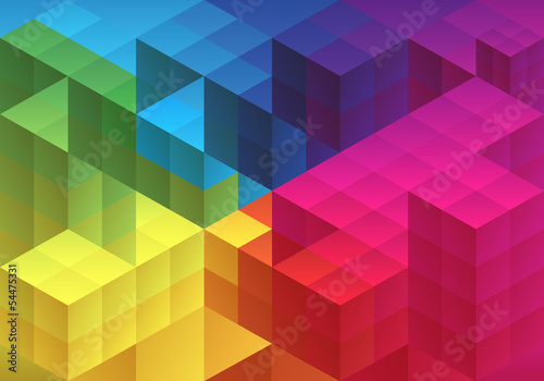 Fridge magnet Abstract geometric background, vector