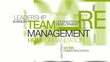 Team management hrm word tag cloud animation