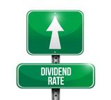 dividend rate road sign illustration design poster