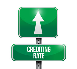 crediting rate road sign illustration design