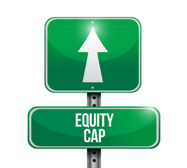 equity cap road sign illustration