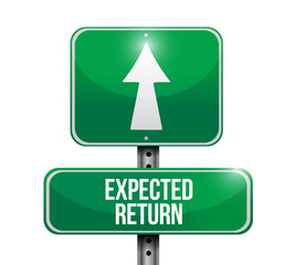 expected return road sign illustration