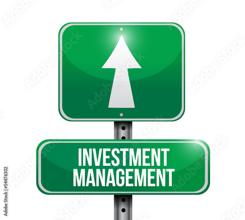 investment management road sign illustration