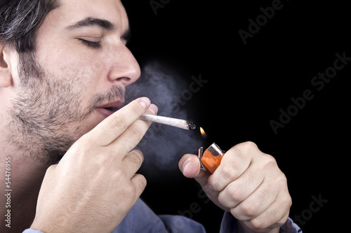 Adult Bum Lighting a Spliff