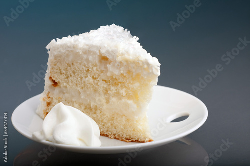 Slice of Coconut Cream Cake