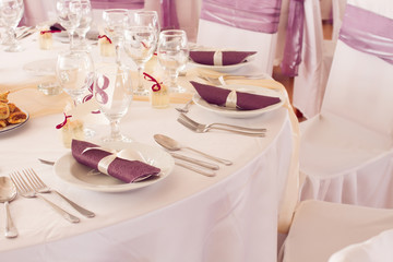 wedding table with number eight