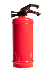 red ceramic decanter in the form of a fire extinguisher