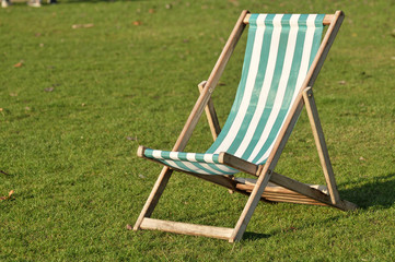 Deckchair On Lawn