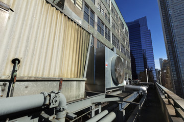 Urban HVAC Air Contidioner Outdoor Unit Manhattan New-York