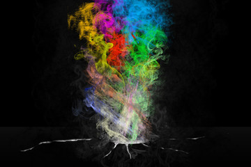 Abstract colorful smokey