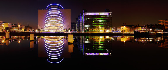 Dublin Convention Center and other buildings of the North banks