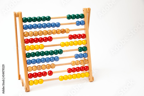 Abacus On White Background.