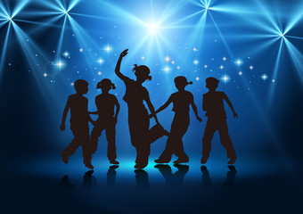 Boys and girls dancing,Tap dance