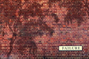failure wall sign