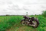 Old Motorcycle in Meadow