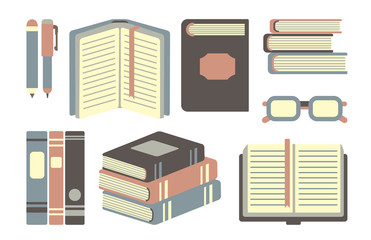 collection of vector books