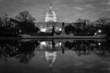 Capitol building and reflection on pool - Washington DC