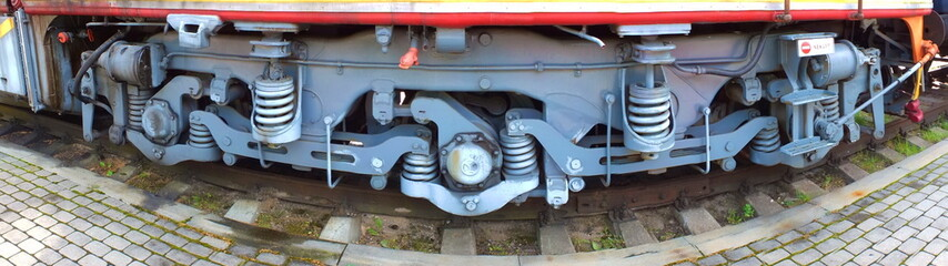 Detail of diesel locomotive