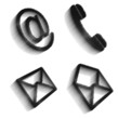 Communication icons image set