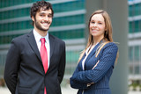Young businesspeople outdoor