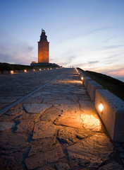 Hercules tower at blue hour