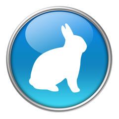 Bottone vetro coniglio