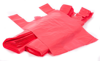 Red plastic bags