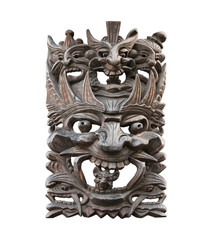 Totem mask, isolated