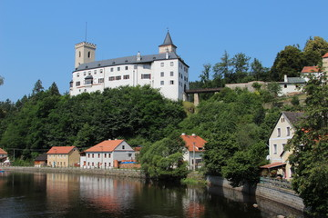 Rozmberk castle in the Czech Republic