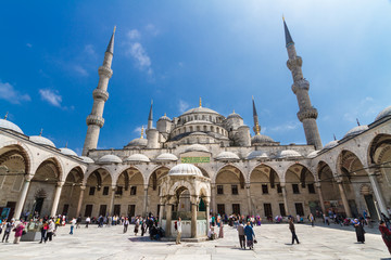 Sultan Ahmed Mosque  in Istanbul, Turkey.