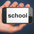 Education concept: School on smartphone