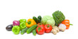 vegetables isolated on a white background - horizontal photo.