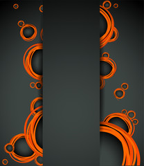 Vector abstract background with bubbles element.