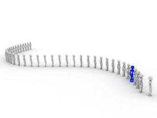 People wait in line  #1