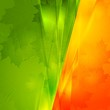 Green and orange seasonal background