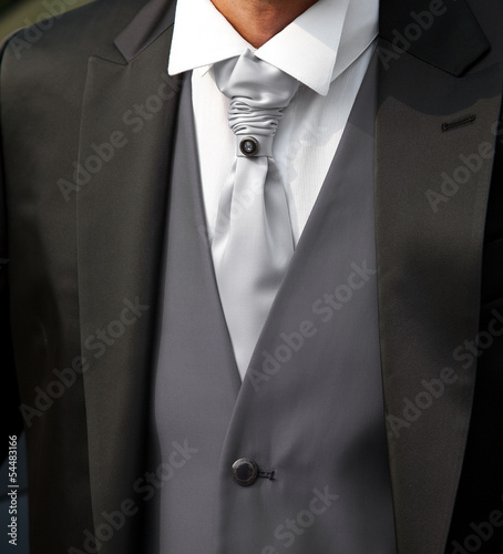 Bridegroom with black dress