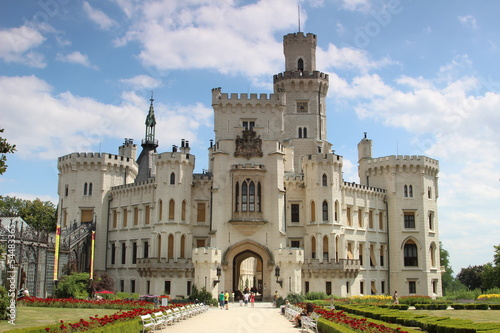 Hluboka castle in the Czech Republic
