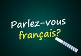 Fototapety Parlez-vous français? (école, langue, tableau)