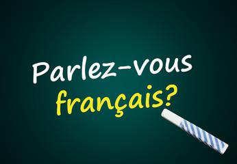 Parlez-vous français? (école, langue, tableau)